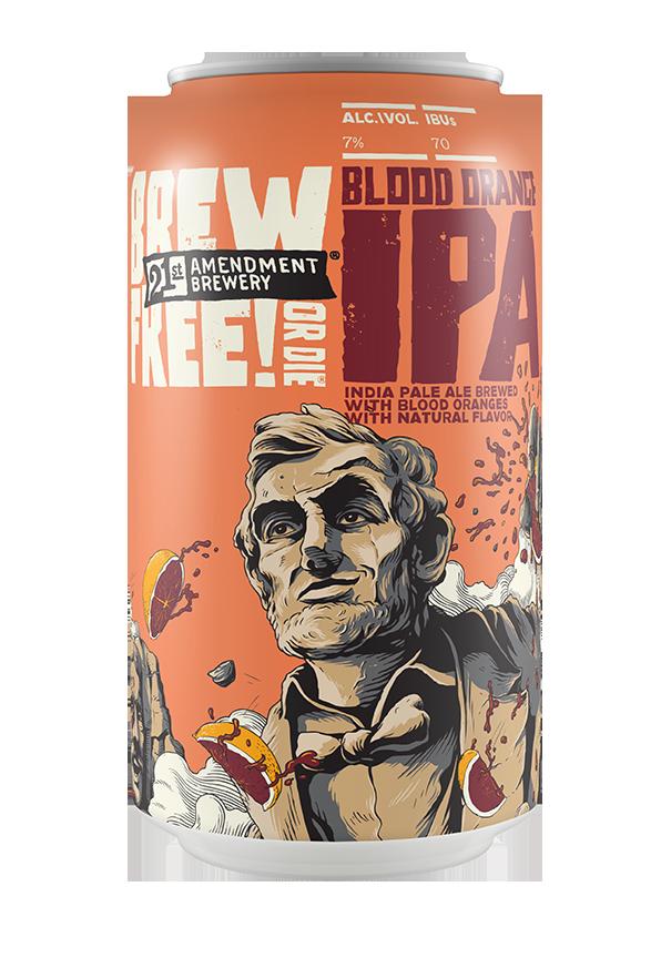 21st Brew Free Blood Orange Brew Free or Die IPA Cans