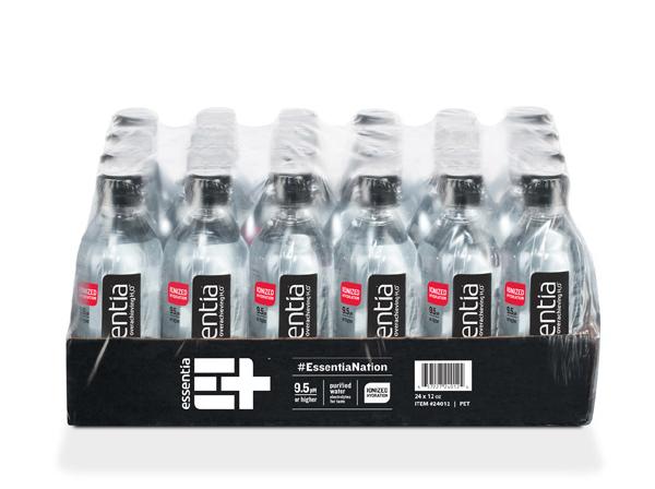 Essentia Ionized Water 24/20oz Plastic Bottles