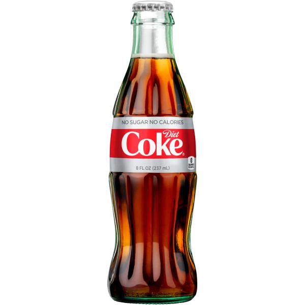 sugar in 8 oz diet coke