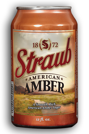Straub Amber Beer Cans