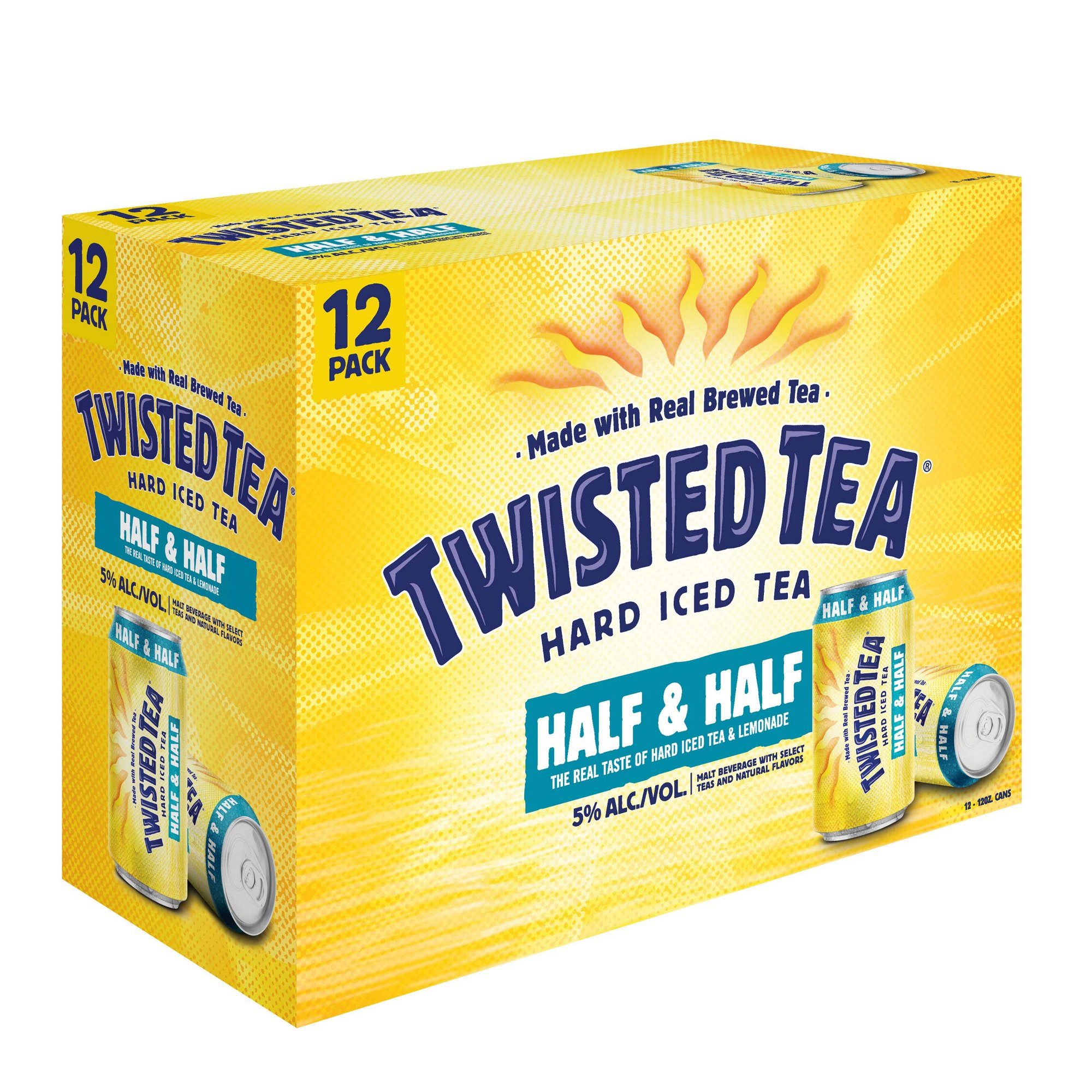 Twisted Tea Half N Half 12oz Cans 12 Pack Beverages2u